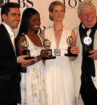 2006 Tony Award winners John Lloyd Young, LaChanze, Cynthia Nixon and Richard Griffiths.