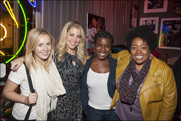 Julia Mattison, Morgan James, Uzo Aduba and Celisse Henderson