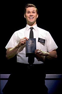 Andrew Rannells in <i>The Book of Mormon</i>.