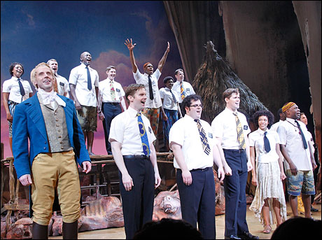 The cast of The Book of Mormon