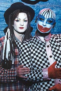 Euan Morton and Boy George in <i>Taboo</i>