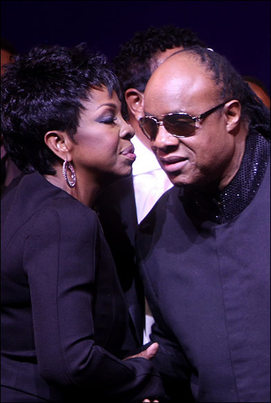 Gladys Knight and Stevie Wonder