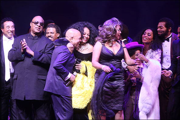 Smokey Robinson, Stevie Wonder, Ryan Shaw, Berry Gordy, Diana Ross, Mary Wilson, Raymond Luke Jr., Valisia LeKae and Brandon Victor Dixon