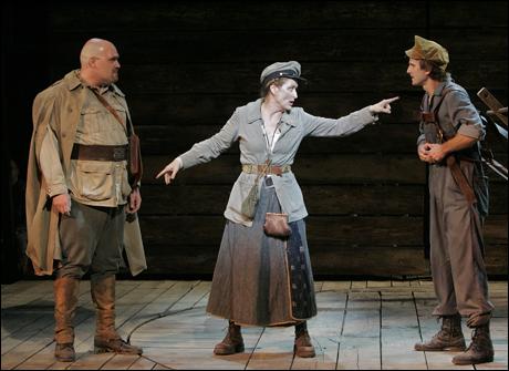 Glenn Fleshler, Meryl Streep and Frederick Weller in Mother Courage, 2006