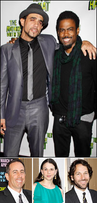 Bobby Cannavale and Chris Rock; guests Jerry Seinfeld, Sutton Foster and Paul Rudd.