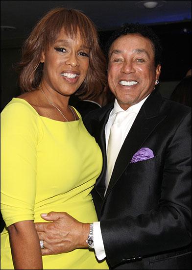 Gayle King and Smokey Robinson