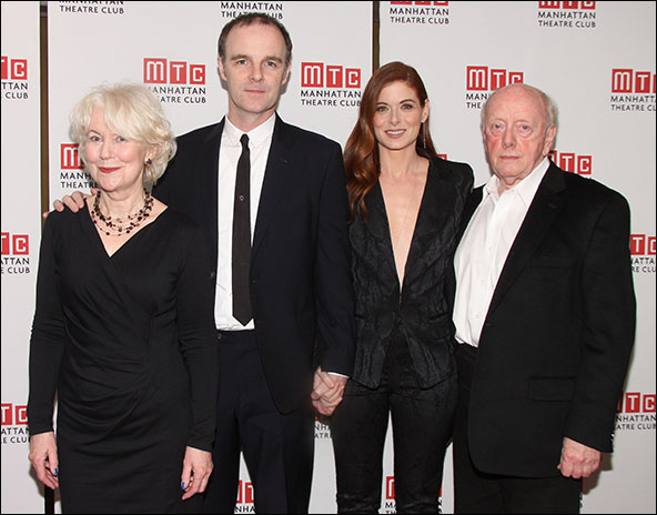 Dearbhla Molloy, Brían F. O'Byrne, Debra Messing and Peter Maloney