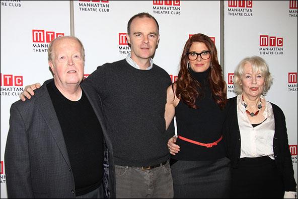John Aylward, Brían F. O'Byrne, Debra Messing and Dearbhla Molloy