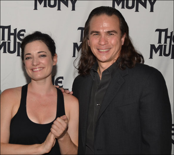 Laura Michelle Kelly and Kevin Gray