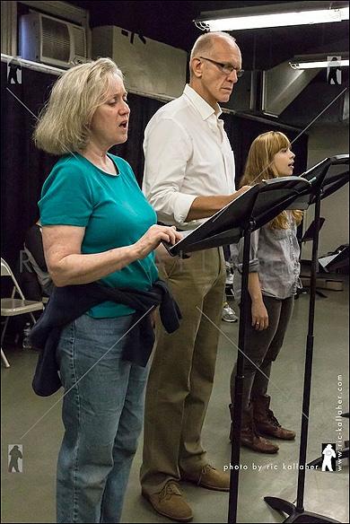 Melanie Vaughan, William Ryall and Lauren Marcus in Eastland