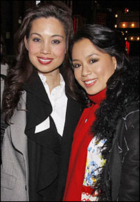 Natalie Mendoza and T.V. Carpio after the first preview
