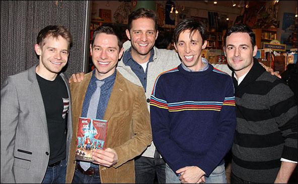 Andrew Keenan-Bolger, Tim Federle, Colin Hanlon, Kevin Cahoon and Max von Essen