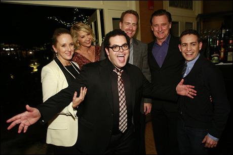 Jennifer Salke, President, NBC Entertainment, Jenna Elfman, Josh Gad, Robert Greenblatt, Chairman, NBC Entertainment, Bill Pullman, Jason Winer