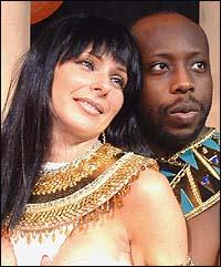 Laura Kirin and James Earl Jones, II in <i>Nefertiti</i>
