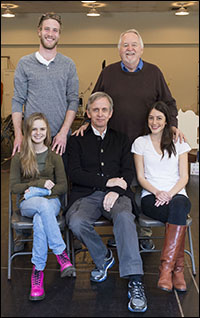 Front: Brighid Fleming, Robert Joy and Jeanne Syquia<br> Back: Adam Haas Hunter and Dakin Matthews