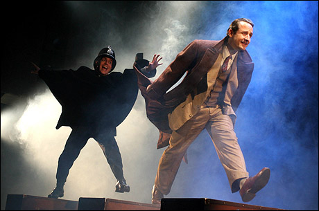 Jeffrey Kuhn and Sam Robards in the Broadway production.