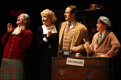 Arnie Burton, Francesca Faridany, Sam Robards and Jeffrey Kuhn in the Broadway production.