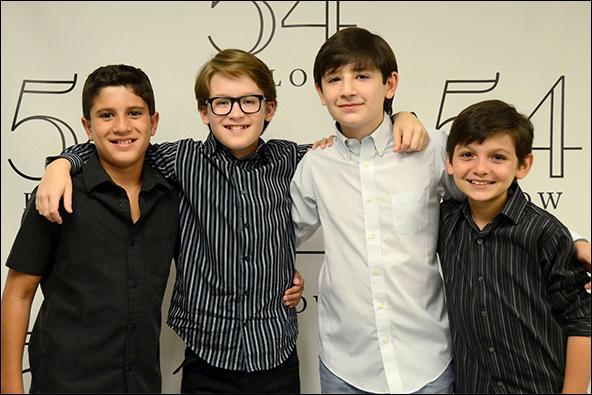Lewis Grosso, Jake Lucas, Matthew Schechter and Luca Padovan