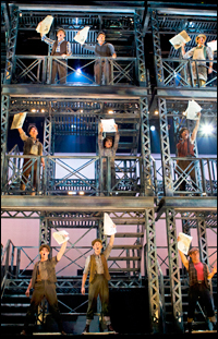 A scene from <i>Newsies</i> at Paper Mill Playhouse