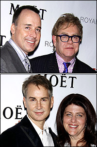 <I>Next Fall</I> producers David Furnish and Elton John; playwright Geoffrey Nauffts and director Sheryl Kaller.