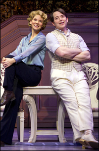 Kelli O'Hara and Matthew Broderick in <i>Nice Work If You Can Get It</i>.