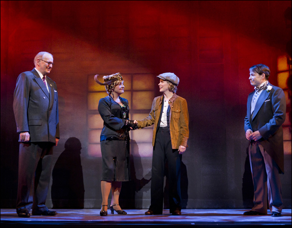 Terry Beaver, Estelle Parsons, Kelli O'Hara and Matthew Broderick