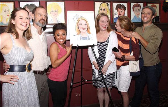 Liesel Allen Yeager, David Hyde Pierce, Shalita Grant, Kristine Nielsen, Julie White and Creed Garnick