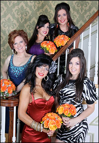 Clockwise from top: Lauren Manzo, Ashley Holmes, Teresa Giudice, Caroline Manzo and Jacqueline Laurita