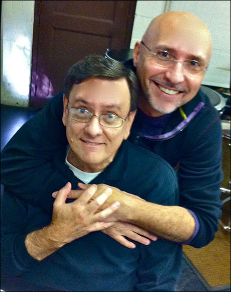 Bosom buddies Michael O'Flaherty (Musical Director) and Rob Ruggiero (Director)