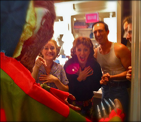 BOO!  Halloween capers with Mamie Parris (Rosabella), Natalie Hill (Cleo) and Noah Aberlin (Clem)