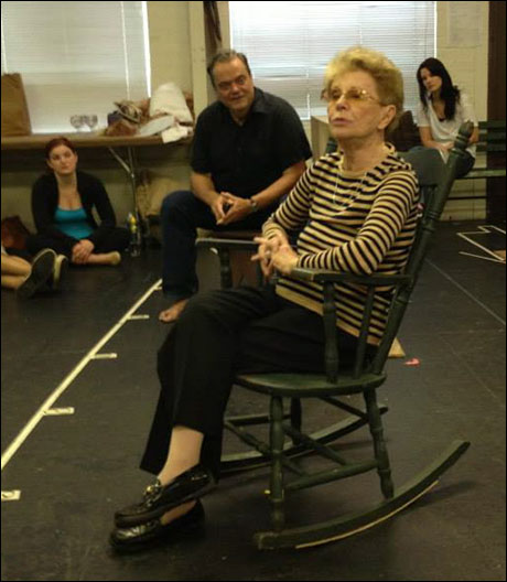 Jo Sullivan Loesser reminisces with the cast