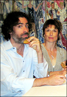 Stephen Mangan and Amelia Bullmore