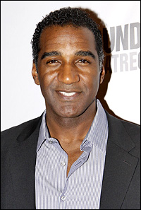 "Norm Lewis will perform the anthem ""Help Is On the Way"""