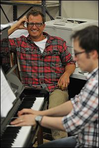 Aaron Thielen in rehearsal