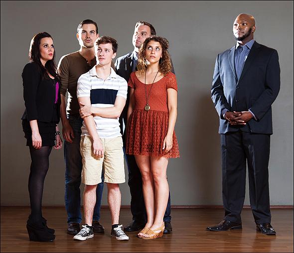 Jenna Leigh Green, Matt Shingledecker, Alex Goley, Darren Ritchie, Eryn Murman, and Dwelvan David in Standby