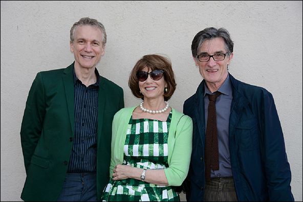 Rick Elice, Margo Lion and Roger Rees