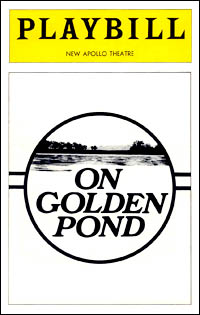 Playbill cover for <I>On Golden Pond</i> in 1979.