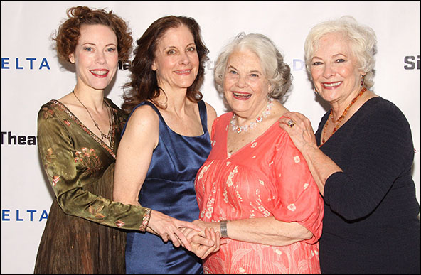 Veanne Cox, Hallie Foote, Lois Smith and Betty Buckley
