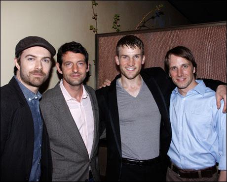 Noah Bean, Greg Pierotti, Claybourne Elder and Todd Lawson