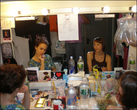 And my second dressing room. With my two favorite fiercies, Sarah Manton and Natalie Smith.