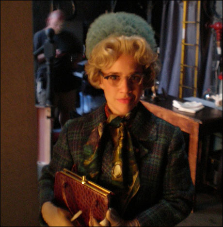 Back to the show. Natalie Smith as Mary Whitehouse getting ready to get chased by James.  You should hear her backstory for this character. It is really quite amazing!  Ask her about it, no really you should ask her.