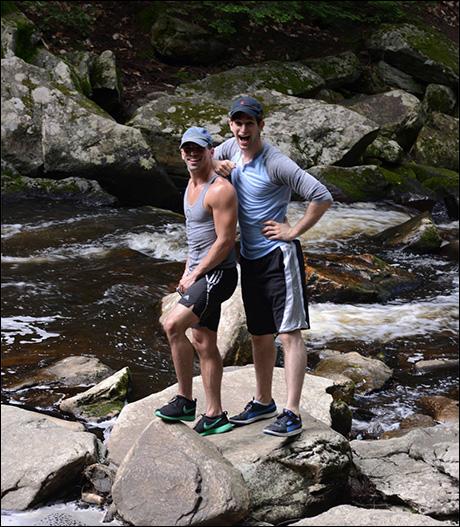 Michael Scirrotto and Harris Milgrim at Waconah Falls