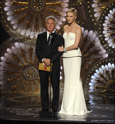 Dustin Hoffman and Charlize Theron