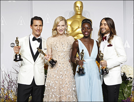 Matthew McConaughey, Cate Blanchett, Lupita Nyong'o and Jared Leto
