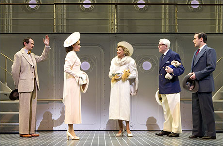 Adam Godley, Laura Osnes, Jessica Walter, John McMartin and Colin Donnell in Anything Goes