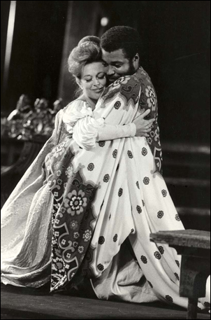 Julienne Marie and James Earl Jones in Othello, 1964