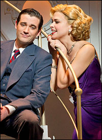 Colin Donnell and Sutton Foster in <i>Anything Goes</i>.
