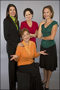Carolyn Seiff (seated) with Victoria Guthrie, Nina Leese and Sandy York