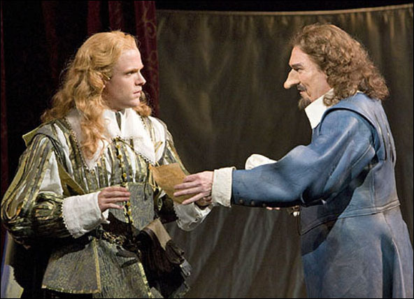 Brendan Griffin and Patrick Page in Cyrano de Bergerac at San Diego's Old Globe, 2009