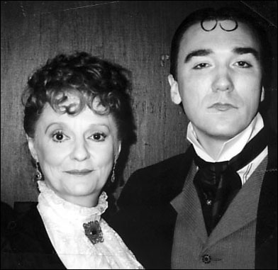Carole Shelley and Patrick Page backstage at Richard II at The Public Theater, 1994
